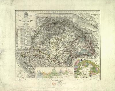 Szent István koronájához Aartozó Orszácoknak térképe