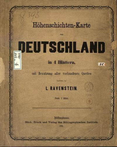 Höhenschichten-Karte von Deutschland Neueste Karte von Deutschland, der Schweiz und Ober-Italien