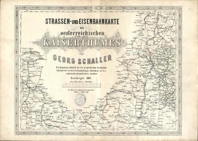 Strassen- und Eisenbahnkarte des österreischen Kaiserthumes