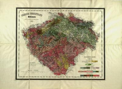 Geologische Karte von Böhmen