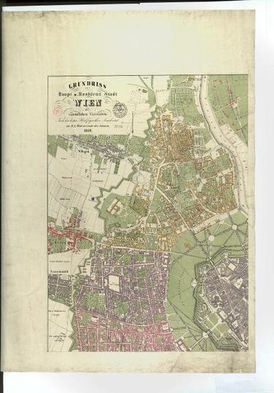 Grundriss der Haupt- u. Residenz-Stadt Wien mit sämtlichen Vorstädten