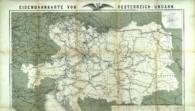 Karte der Eisenbahnen von Österreich-Ungarn Nebst Übersicht der Eisenbahn - Actien und Prioritäten