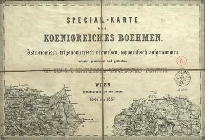 Special-Karte des Koenigreiches Boehmen Astronomisch-trigonometrisch vermessen, topographisch aufgenommen