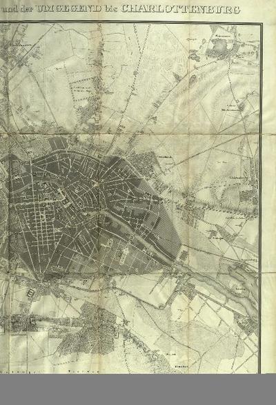 Plan von Berlin mit dem Weichbilde und der Umgegend bis Charlottenburg