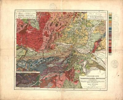 Geologische Karte des Erzherzogthumes Österreich unter der Enns