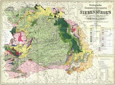 Geologische Übersichts-Karte von Siebenbürgen