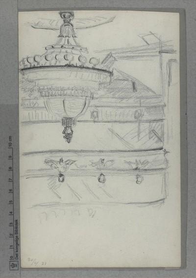 Kongens Nytorv, Det Kgl. Teater: Interiør med lysekrone d. 30. april 1931