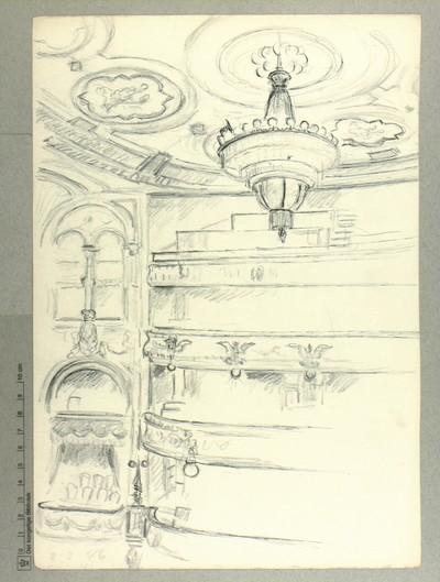 Kongens Nytorv, Det kongelige Teater, Lysekrone