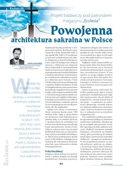 Powojenna architektura sakralna w Polsce