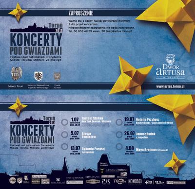 Koncerty Pod Gwiazdami : Toruń 2013 : zaproszenie