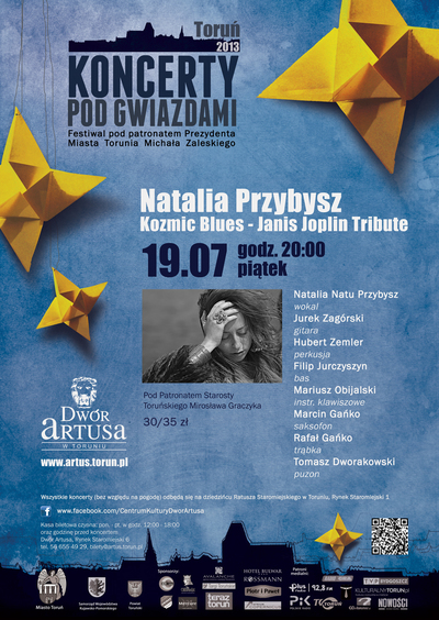 Koncerty pod Gwiazdami : Natalia Przybysz : 19.07