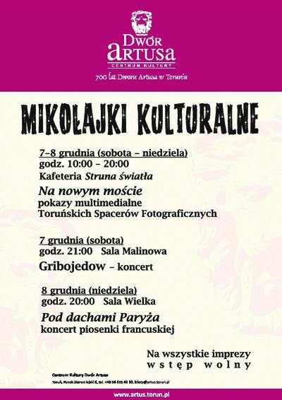 Mikołajki Kulturalne : 7-8 grudnia
