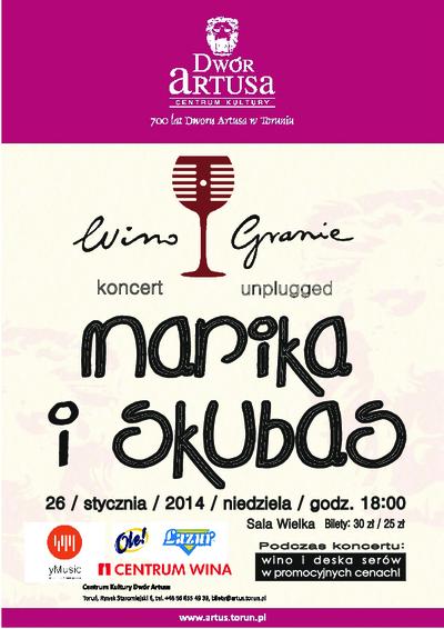 WinoGranie : koncert unplugget Marika i Skubas : 26 stycznia 2014