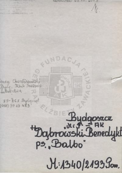 Dąbrowski Benedykt