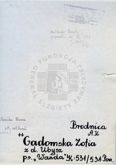 Gadomska Zofia