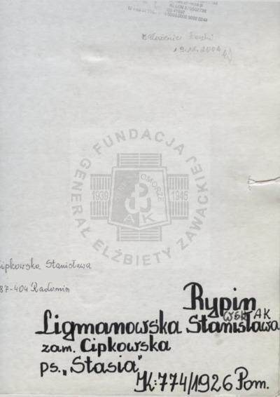 Ligmanowska Stanisława