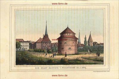 Rostock vom Steintor im Jahre 1841