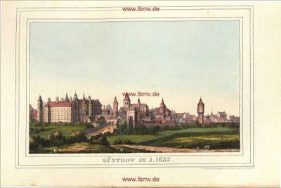 Güstrow im Jahre 1632