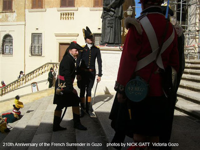 210th.Anniversary of the French Surrender in Gozo