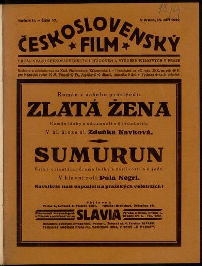 Československý film 17/1920