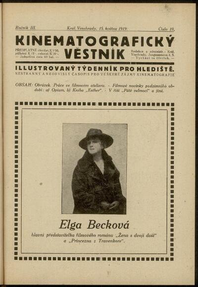 Kinematografický věstník 10/1919