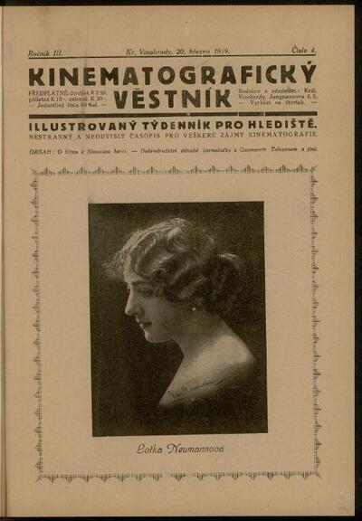 Kinematografický věstník 4/1919