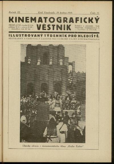 Kinematografický věstník 11/1919