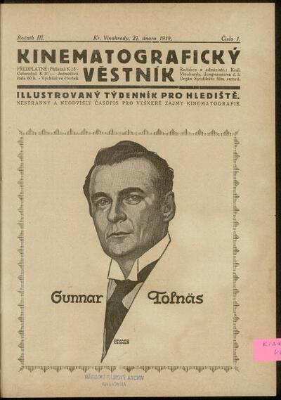 Kinematografický věstník 1/1919