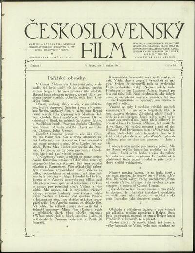 Československý film 10/1919
