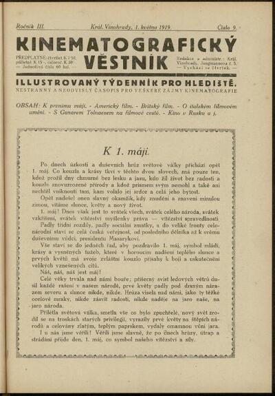 Kinematografický věstník 9/1919