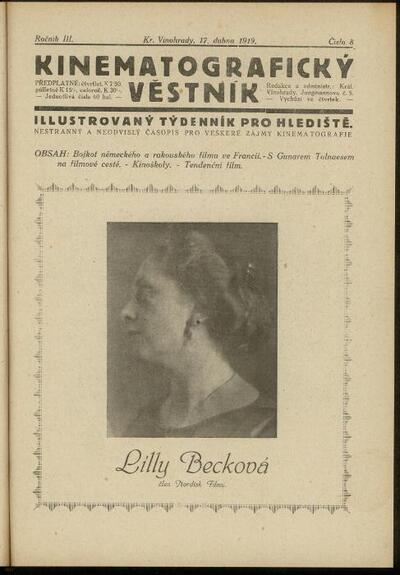 Kinematografický věstník 8/1919