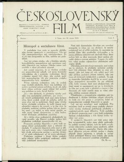 Československý film 5/1919