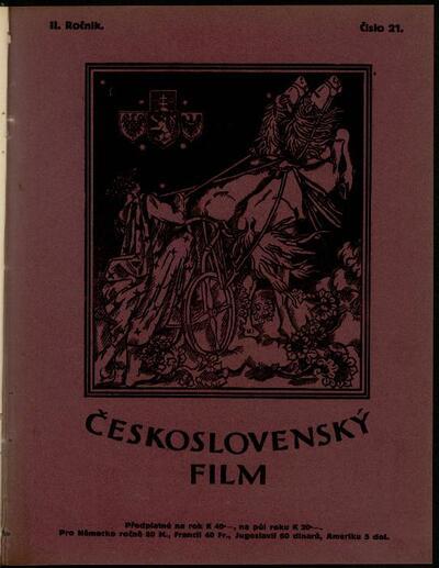 Československý film 21/1920