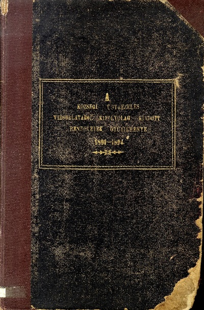 A községi ügykezelés vizsgálatából kifolyólag kiadott rendeletek gyűjteménye 1891-1894