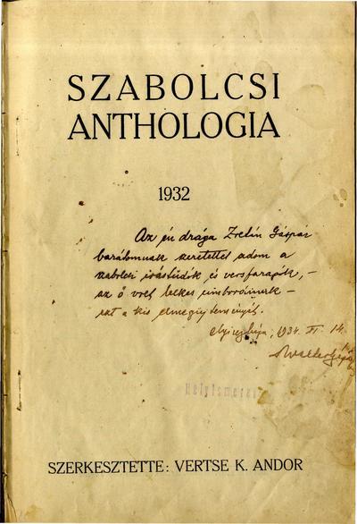 Szabolcsi anthologia