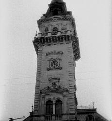 Hódmezővásárhelyen a Városháza tornya