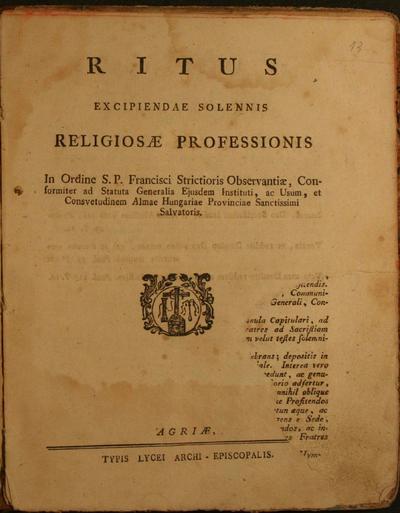 Ritus excipindae solennis religiosae professionis