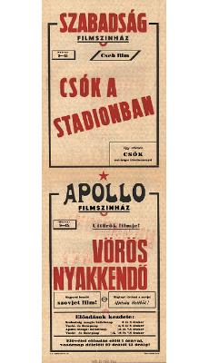 Szabadság és Apollo Filmszínház programjai 1949. március 9-15
