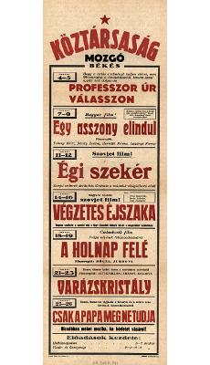 Köztársaság Mozgó programjai 1949. január 4-26-ig