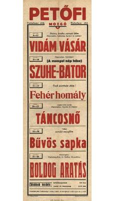 Petőfi Mozgó programjai 1949. július 6-30-ig