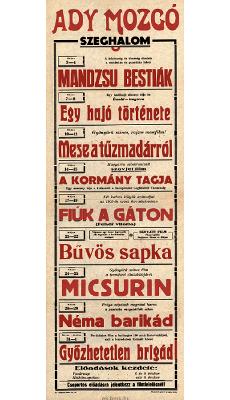 Ady Mozgó programjai 1949. május 3-június 1-ig