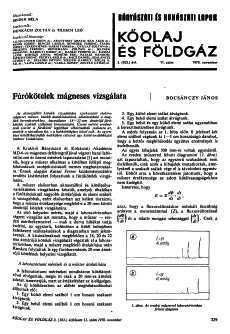Bányászati és Kohászati Lapok Kőolaj és Földgáz 1970. évfolyam 11. szám