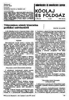 Bányászati és Kohászati Lapok Kőolaj és Földgáz 1970. évfolyam 3. szám