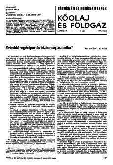 Bányászati és Kohászati Lapok Kőolaj és Földgáz 1970. évfolyam 5. szám