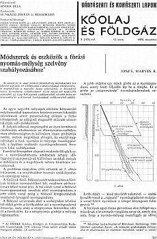 Bányászati és Kohászati Lapok Kőolaj és Földgáz 1970. évfolyam 12. szám