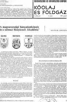 Bányászati és Kohászati Lapok Kőolaj és Földgáz 1971. évfolyam 1. szám
