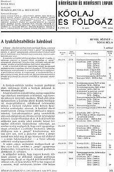 Bányászati és Kohászati Lapok Kőolaj és Földgáz 1971. évfolyam 6. szám