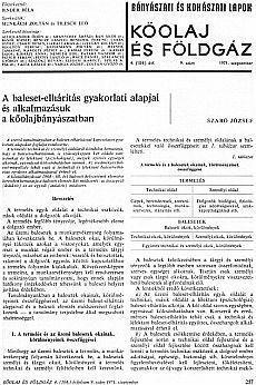 Bányászati és Kohászati Lapok Kőolaj és Földgáz 1971. évfolyam 9. szám
