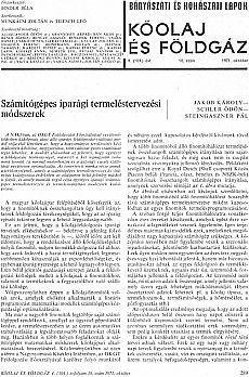Bányászati és Kohászati Lapok Kőolaj és Földgáz 1971. évfolyam 10. szám
