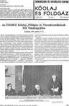 Bányászati és Kohászati Lapok Kőolaj és Földgáz 1971. évfolyam 12. szám
